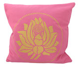 "Designer Sofa-Kissen-Bezug ""Lotus"" gross rosa"