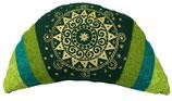 """Dark Green Ur-Mandala"" Reisemond Yogakissen Luxus"