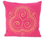 "Designer Sofa-Kissen ""Trio Kharma"" pink gross"