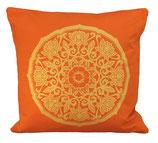 "Designer Sofa-Kissen-Bezug ""Lotus Kreis"" orange gross"