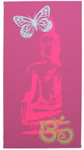 "Kraft-Bild ""Neon Buddha"" dunkelrosa"