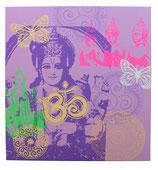 "Bild ""Vishnus Erwachen"" lila-grün"