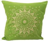 "Designer Sofa-Kissen-Bezug ""Ur-Mandala"" kiwi"
