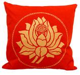 "Designer Sofa-Kissen-Bezug ""Lotus"" gross rot"