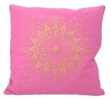"Designer Sofa-Kissen-Bezug ""Ur-Mandala"" rosa"