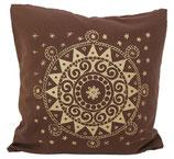 "Designer Sofa-Kissen-Bezug ""Ur-Mandala"" braun"