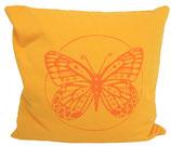 """Designer Sofa-Kissen-Bezug """"Butterfly"""" klein sonne+orange"""