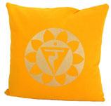 "Designer Sofa-Kissen-Bezug ""Solarplexus-Chakras"""