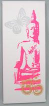 "Kraft-Bild ""Neon Buddha"" weiss"