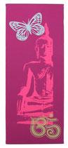 """Kraft-Bild """"Neon Buddha"""" dunkelfuchsia"""