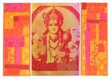 """3er-Bild """"Lord Vishnu orange"""" patch"""