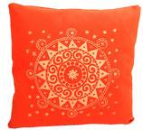 "Designer Sofa-Kissen-Bezug ""Ur-Mandala"" dunkelorange"