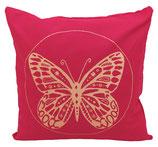 "Designer Sofa-Kissen ""Butterfly"" gross fuchsia"