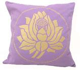 "Designer Sofa-Kissen-Bezug ""Lotus"" gross flieder"