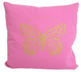 "Designer Sofa-Kissen-Bezug ""Butterfly"" klein rosa"