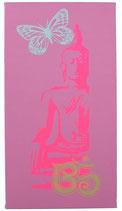 "Kraft-Bild ""Neon Buddha"" hellaltrosa"