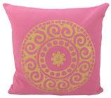 "Designer Sofa-Kissen-Bezug ""Mandala"" gross rosa"