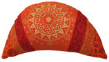 """Dark orange Ur-Mandala"" Reisemond Yogakissen Luxus"