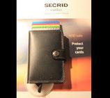 Secrid Miniwallet auf Basis Secrid RFID Cardprotector als Protemonnaie (Rindsleder)