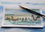(01.5) Aquarell - Frohe Ostern (schlüpfende Hasen)
