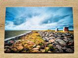 "Strandkörbe am Sommerdeich - Wandbild als ""Forexplatte"""