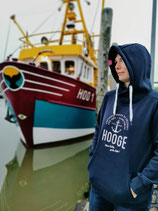 Damen Hooge Hoodie - Farbe Navyblau