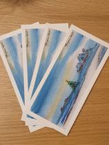Aquarell Kartenset - Weihnachten auf Hallig Hooge