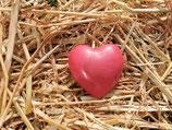 Schafmilchseife Herz mit Rosenblütenblättern 65g