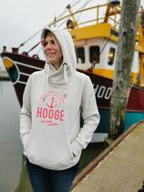 Damen Hooge Hoodie - Farbe Ecru Mel