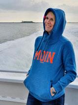 """Damen Moin Hoodie - Farbe """"Seaport"""" (Türkisblau)"""