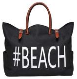 #BEACH BAG - POWER BLACK