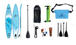 Race SUP light blue  427*71*15 cm, Komplettset + wasserdichter Hüftttasche