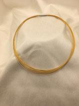 Collierkette, 18-reihig, Edelstahl vergoldet