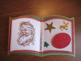 Buchkarte rot-grün-gold-weiß