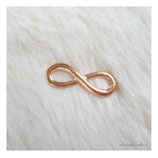 bracelet charm antique infinity big rose golden