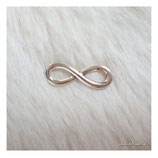 bracelet charm antique infinity big silver