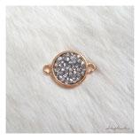 bracelet charm glitter stones gold grey