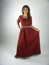 edles Kurzarm-Kleid mit Borte L4832 für Mittelalter und Larp