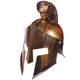 "Kinderhelm ""Sparta"" in Messing-Metalloptik"
