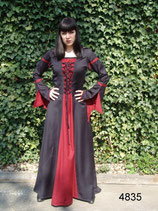 schlichtes zweifarbiges Kleid L4835 für Mittelalter, Larp und Gothic
