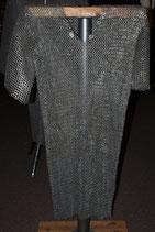 Kettenhemd, Flachring 9 mm, halb vernietet, mixed Gr. L