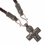 """Wikinger Collier """"Terslev"""" mit Birka-Kruzifix"""