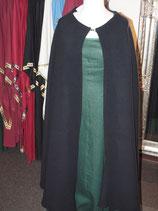 Dicker dunkelblauer Umhang aus Wollvelour ohne Kapuze (VE562)