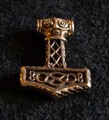 Anhänger Amulett Thorshammer kantig Wikinger bronze BM12059