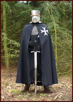 Umhang der Ritter des Johanniterordens, Wolle mit Baumwoll-Innenfutter