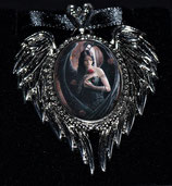 "Anne Stokes Amulett ""Angel Rose  "" LA-EC13"
