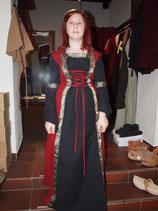 Mittelalter-Kleid Jugendlivch (BW-Sw-Ro)