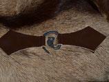 Wolfskopf Schließe mit Leder für Umhang/Mantel (L-F08)