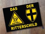 """Aufkleber """"DER Ritterschild"""""""