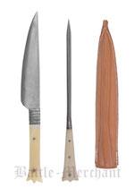 Besteckset Messer und Pfriem  in Ledertasche (BM1997004530)